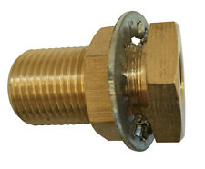 Brass Bulkhead Anchor Connector, Pipe Thread Fitting.