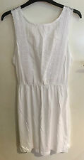 WHITE BRODERIE ANGLAISE SUMMER/BEACH DRESS..BRAND NEW..SIZES 8-18..