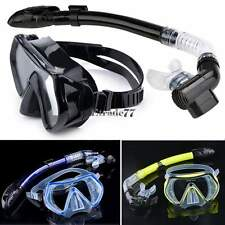 Scuba Diving Snorkeling Mask Dry Snorkel Water Sports Gear Combo Set New EA77