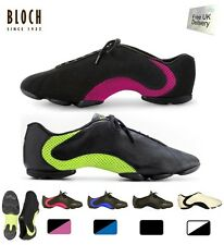 Bloch amalgam split sole jazz shoes/sneakers  black and blue or black and green