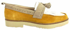 Hush Puppies Vincent Mens Boat Shoes Leather Suede Wide Yellow H103445 D123