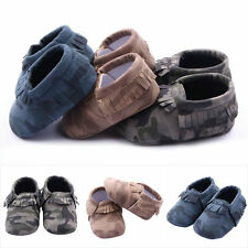 Boys Infant Toddler PU Leather Soft Sole Baby Slipper Shoes Fit For 0-12M G45