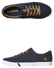 New Kustom Men's Kramer Shoe Canvas Mens Shoes Blue