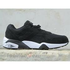 Shoes Puma R698 Core Leather 360592 01 Man Sneakers Black White