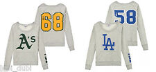 New Victoria's Secret PINK Oakland Athletics LA Dodgers MLB Baseball Pullover