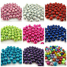 40 8MM 3D ILLUSION MIRACLE ROUND ACRYLIC BEADS FOR JEWELLERY MAKING - UK SELLER