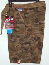 NWT Men's Plugg Belted Cargo Shorts Size 28 32 36 Rustic Camo  100% Cotton