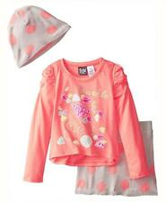 Pogo Club Girls Light Peach Top 3pc Skirt Set Size 4 5/6 6X $40