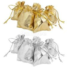 10pcs Drawstring Pouch Wrapping Jewellery Bags Wedding Party Favor Gift Bags