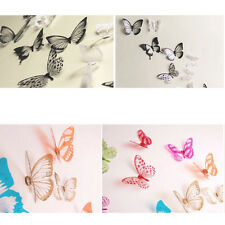 18x DIY 3D Butterfly Wall Stickers Art Decal PVC Butterflies Home Room Decor