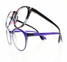 Women Colorful Oval Retro Frame Reader Reading Glasses Clear Lens +1.0 ~ +4.0