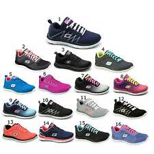 Skechers FLEX APPEAL Ladies Womens Lace Up Sports Fitness Running Gym Trainers