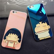 Funny Maruko Shin Chan Couple Phone Case Cover For iPhone 5 6 S plus 7 plus P408