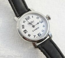 Mossimo Men's Watch Black Leather Strap Watch Silver DIAL Analog