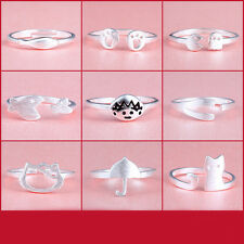 925Sterling silver Plated ring finger fashion women lady Ring opening Adjustable