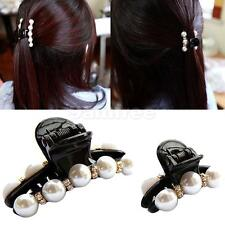 Sexy Women Lady Butterfly Pearl Hair Clip Claw Hair Clamp Hair Accessories