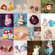 Newborn Baby Girls Boys Costume Photo Photography Prop Hats Pants Wraps Outfits