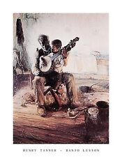 HENRY TANNER BANJO LESSON  painting Poster | Cubical ART | Gifts | FREE Shipping