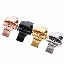 Stainless Steel Watch Bands Deployment Clasp Strap Buckle 16-24mm 5 Colors