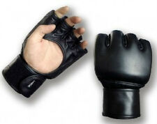 Playwell MMA Open Palm Leather Gloves Training UFC Cage Fight Punching Sparring