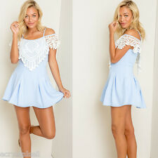 ZAFUL Cute Sweet Dolly Lolita Slim Off Shoulder Evening Party Cocktial Dress