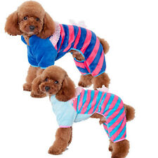 New Small Pet Dog/Cat Stripes Pajamas Puppy Coat Clothes Apparel winter Clothing
