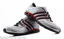 ADIDAS MENS TECH L2 SILVER  RED BLACK RUNNING TRAINING  RUNNERS GYM SHOES