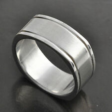 vintage Stainless Steel Mens Womens Ring Jewelry size 8 9 10 11