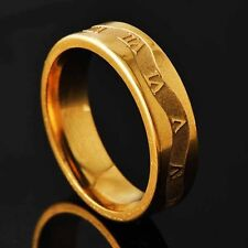 Classic Mens Unisex Rome digital Gold Filled Ring Size 8 9 10 11 Free Shipping