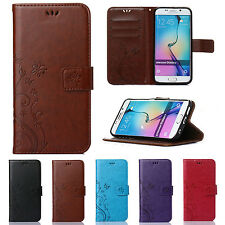 Luxury Patterned Leather Flip Card Wallet Stand Case Cover Skin For Apple iPhone