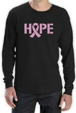 Hope Breast Cancer Awareness Pink Ribbon Long Sleeve T-Shirt Support