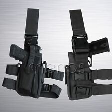 Tactical Leg Holster New - Black Drop Leg Style Holster SWAT Police Military