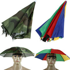 Foldable Umbrella Hat Cap Headwear Beach Sun Outdoor Sports Golf Fishing Camping