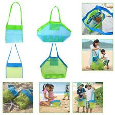 Sand Away Beach Mesh Bag Pouch Kids Children Toys Shell Towl Net Organizer Tote