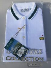 Augusta Nationals Masters Collection Golf Mens S 100% Cotton White Polo Shirt