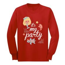 It's My Party - Lil Mermaid Birthday Gift Idea Youth Kids Long Sleeve T-Shirt