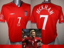 England David Beckham Shirt Jersey Football Soccer S M L XL Owen Scholes 02 Away