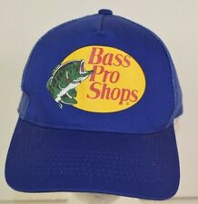 Bass Pro Shops Snap Back Mesh Trucker Cap Hat One Size Adjustable Blue