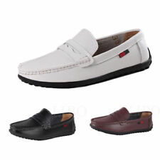 Mens casual Moccasin British Loafer slip on Driving Leather Dress boat Shoes