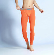 New gmw Men's Long Johns Thermal underwear cotton Bottom Long Johns 3 colors