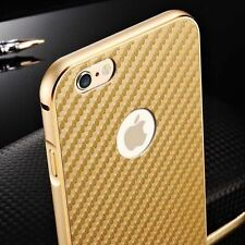 Luxury Thin Carbon Fiber Aluminum Bumper Metal Back Case Cover For iPhone 5s SE
