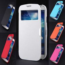Slim Magnetic Flip Leather View Window Case Cover For Samsung Galaxy S4 Mini