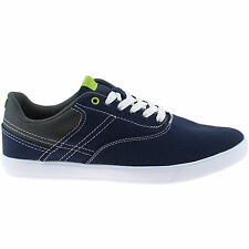 MENS HI-TEC CANVAS EQUINOX NAVY BLUE CASUAL LACE UP LIGHTWEIGHT PUMPS SHOES