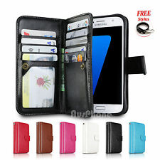 Magnetic Leather Wallet Card Slot Practical Flip Case Cover for iPhone / Samsung