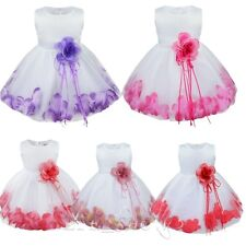 New Feast Princess Baby Flower Girls Petals Party Dress Gown Bridesmaid Dresses