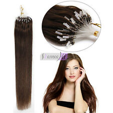 "0.5g/s Loop Micro Rings Remy Real Human Hair Extensions 20"" In Stock!"