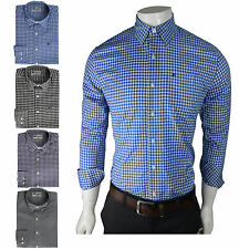 Mens Formal Shirt Slim Fit Full Sleeve Collared Casual Regular Fit Check Shirt