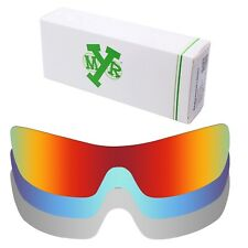 MRY POLARIZED Replacement Lenses for-Oakley Batwolf Fire Red / Ice Blue / Silver