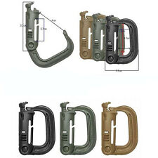 Fashion 2PCS D-ring Molle Lock Webbing Buckle Barabiner Climb Backpack Hook Tool