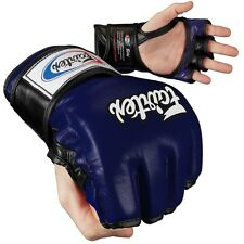 Fairtex Ultimate Combat MMA Gloves - Open Thumb - Blue / Black